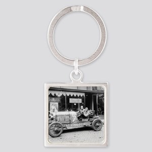 Pikes Peak Champion Race Car Square Keychain
