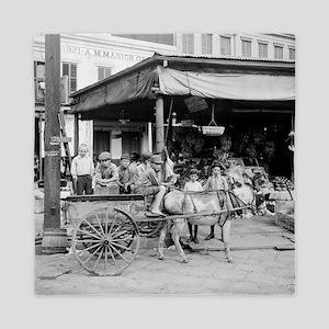 New Orleans French Market Queen Duvet