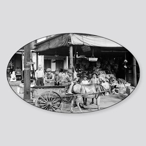 New Orleans French Market Sticker (Oval)