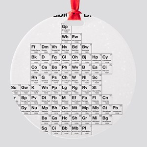 2-periodictable_brooklyn Round Ornament