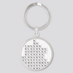 2-periodictable_brooklyn Round Keychain