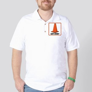 sign-got-cone-1-wht Golf Shirt