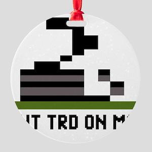 Pixel-Txt--Dont-Tread-On-Me-6239x41 Round Ornament