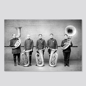 Police Band Tuba Players Postcards (Package of 8)