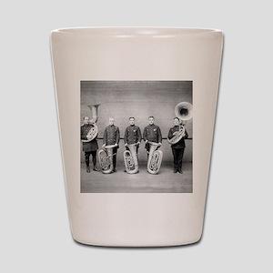 Police Band Tuba Players Shot Glass