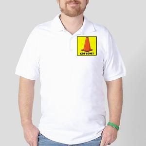 sign-got-cone-1-ylw Golf Shirt