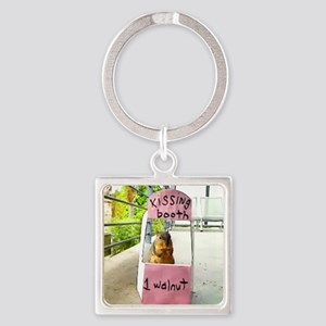 squirrelkissingbooth Square Keychain