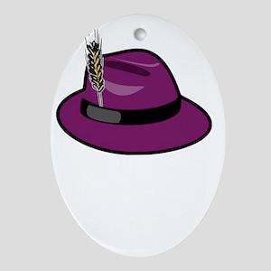 fedora-purple-large-black_mkiii Oval Ornament