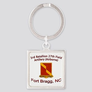 3rd Bn 27th FA Square Keychain