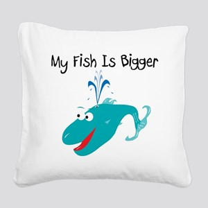 wally_whale_aqua Square Canvas Pillow