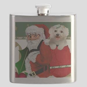 Santa Bag Full Of Maltese Flask