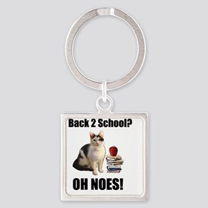 Lolcat Back to School Square Keychain