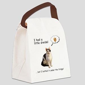 Hannukah Dreidel Cat Canvas Lunch Bag
