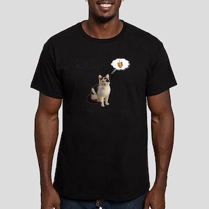 Hannukah Dreidel Cat Men's Fitted T-Shirt (dark)