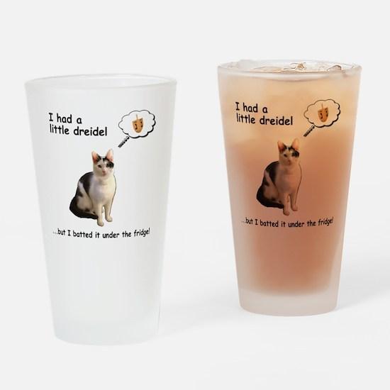 Hannukah Dreidel Cat Drinking Glass