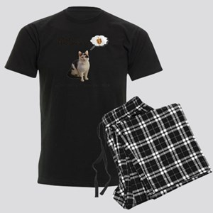 Hannukah Dreidel Cat Men's Dark Pajamas