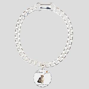 Hannukah Dreidel Cat Charm Bracelet, One Charm