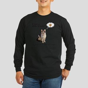 Hannukah Dreidel Cat Long Sleeve Dark T-Shirt