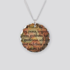 fruit of the spirit Necklace Circle Charm