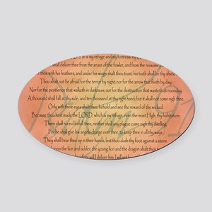 psalm 91 Oval Car Magnet