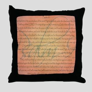 psalm 91 Throw Pillow