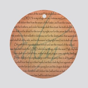 psalm 91 Round Ornament