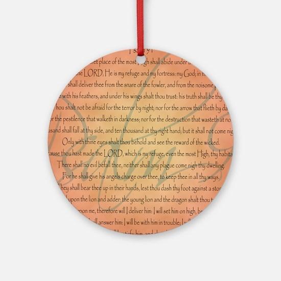 psalm 91 Round Ornament