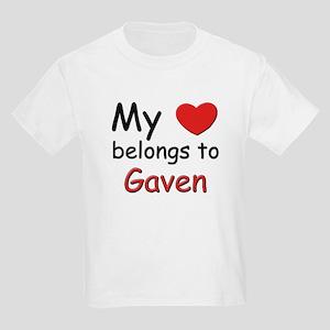My heart belongs to gaven Kids T-Shirt