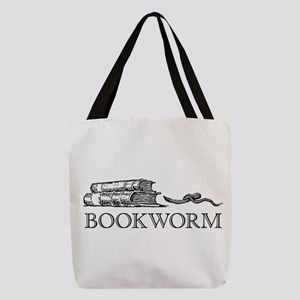 Bookworm Polyester Tote Bag