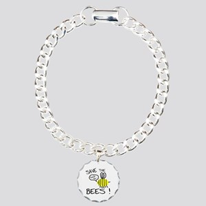 save the bees Charm Bracelet, One Charm
