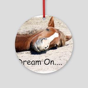 Dream On Sleeping Horse Round Ornament