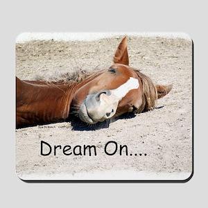 Dream On Sleeping Horse Mousepad