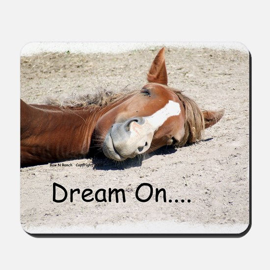 Dream On Sleeping Horse Mousepad
