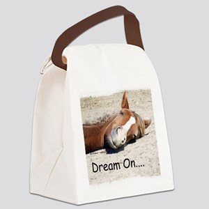Dream On Sleeping Horse Canvas Lunch Bag