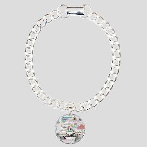 abuse13x13reg Charm Bracelet, One Charm