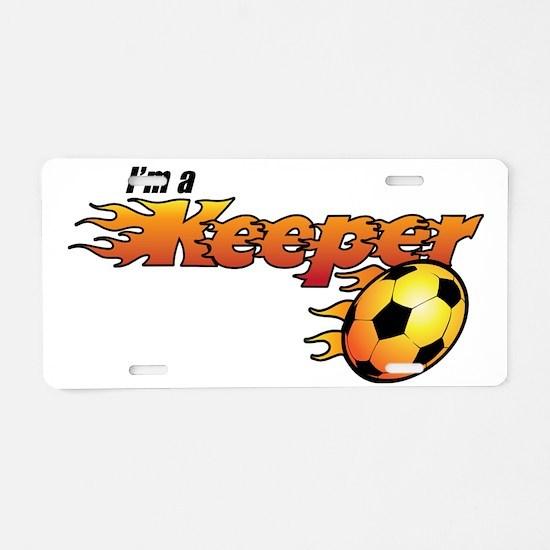 100611_101SoccerKeeper Aluminum License Plate