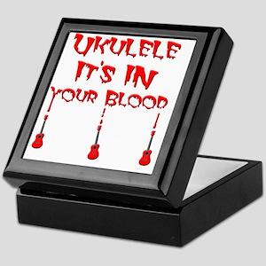scary bloody vampire ukulele Keepsake Box