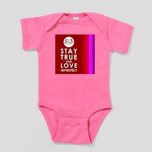 INFINITE LOVE Multicolor Baby Bodysuit