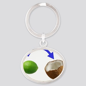 Put the Lime In the Coconut Oval Keychain