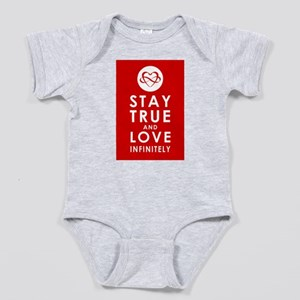 INFINITE LOVE Heart Red Baby Bodysuit