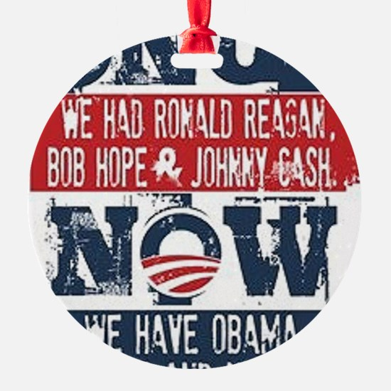 Obama, No Hope, No Cash (large) Ornament