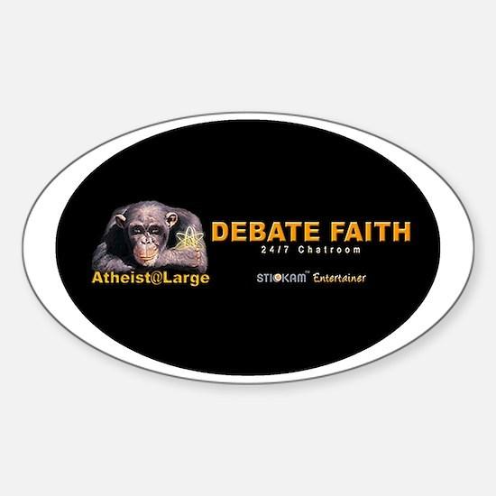 debatefaith_oval Sticker (Oval)