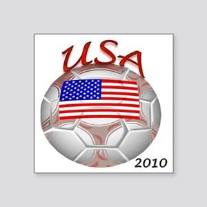 "usa with 2010 Square Sticker 3"" x 3"""