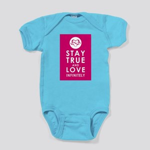 INFINITE LOVE Plum Pink Baby Bodysuit
