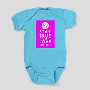 INFINITE LOVE Fierce Fuchsia Baby Bodysuit