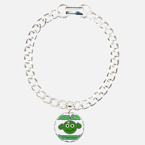 Peas are awesome 1 dark Charm Bracelet, One Charm
