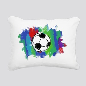 Soccer Ball Colors Rectangular Canvas Pillow
