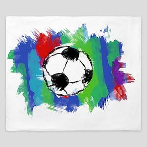 Soccer Ball Colors King Duvet