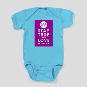 INFINITE LOVE Passion Purple Baby Bodysuit
