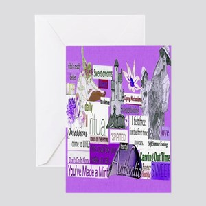 empower5x8purp Greeting Card
